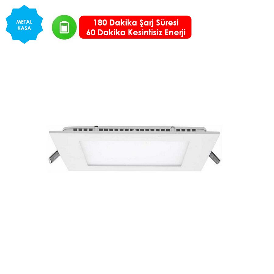 FORLIFE FL-2041-K KP - 18 Watt Acil Aydınlatma Kitli Sıva Altı Kare LED Panel Armatür