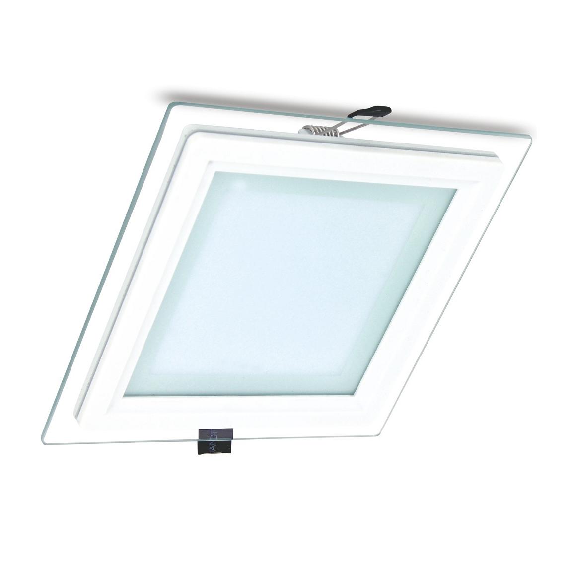 FORLIFE FL-2125 - 15 Watt Camlı Kasa Sıva Altı Kare LED Panel Armatür