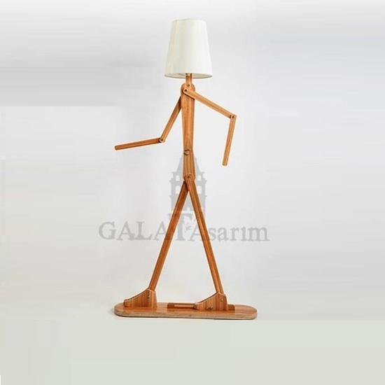 GT-5005 - Dekoratif Ahşap Lambader