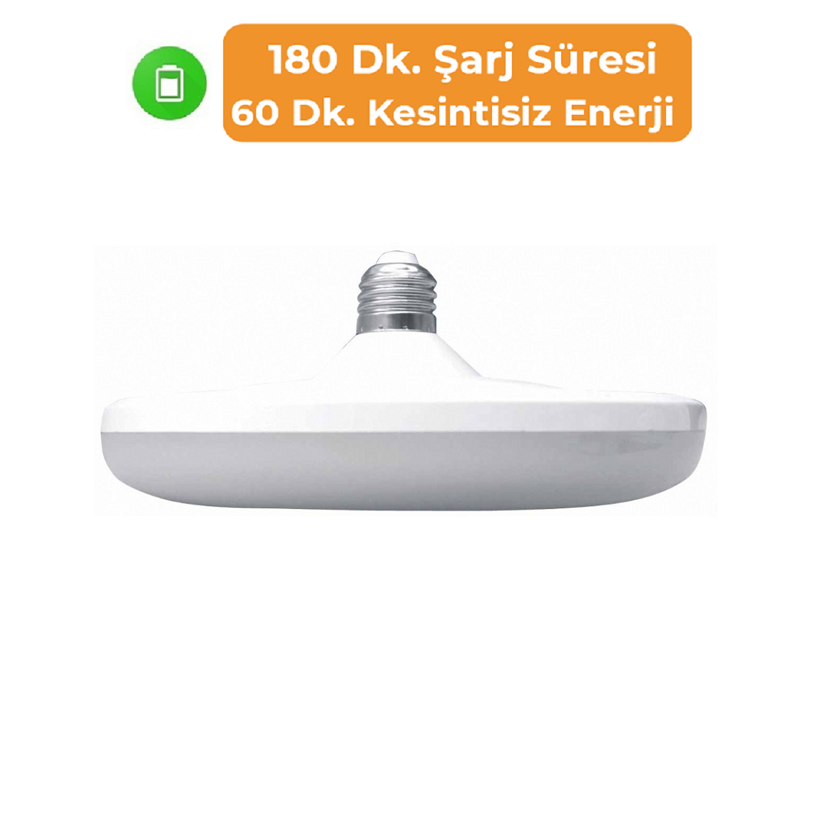 K2 GLOBAL KES408 - 26 Watt Şarjlı LED UFO Ampul