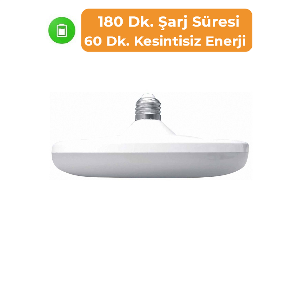 K2 GLOBAL KES410 - 20 Watt Şarjlı LED UFO Ampul