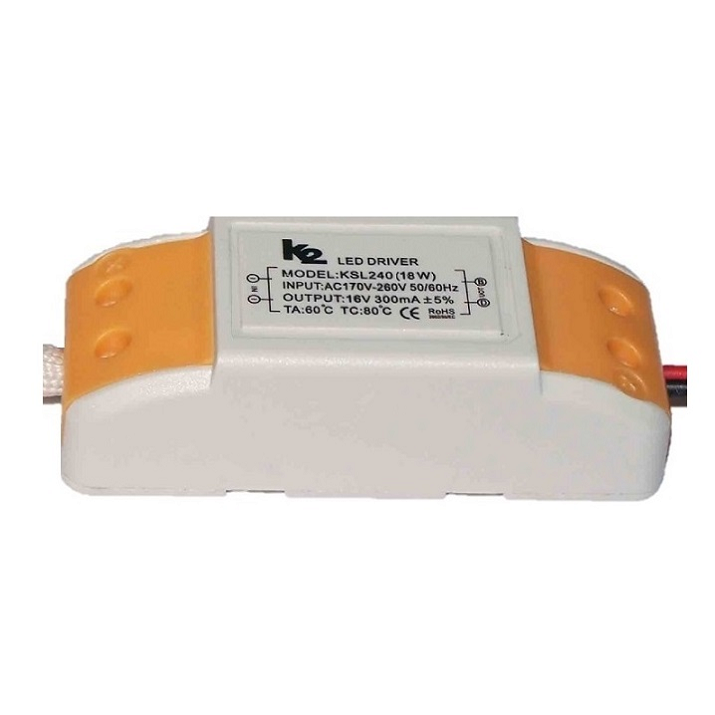 K2 GLOBAL KYM018 - 18 Watt 300 mA LED Panel Driver