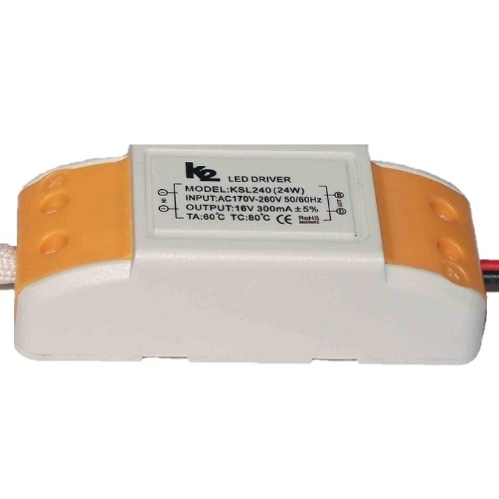 K2 GLOBAL KYM024 - 24 Watt 300 mA LED Panel Driver