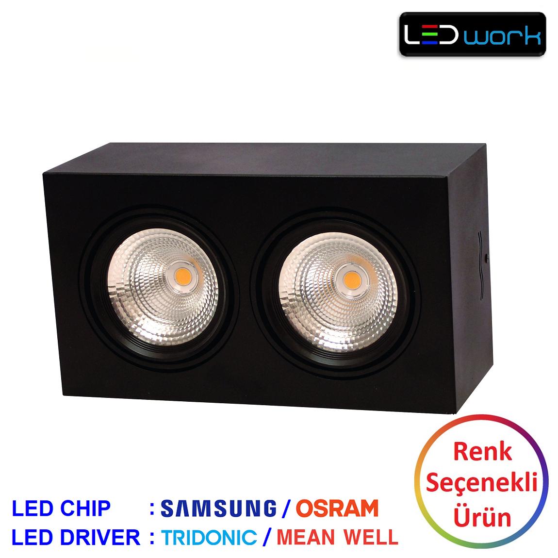 LW-Deko-002 - Sıva Üstü İkili LED Spot