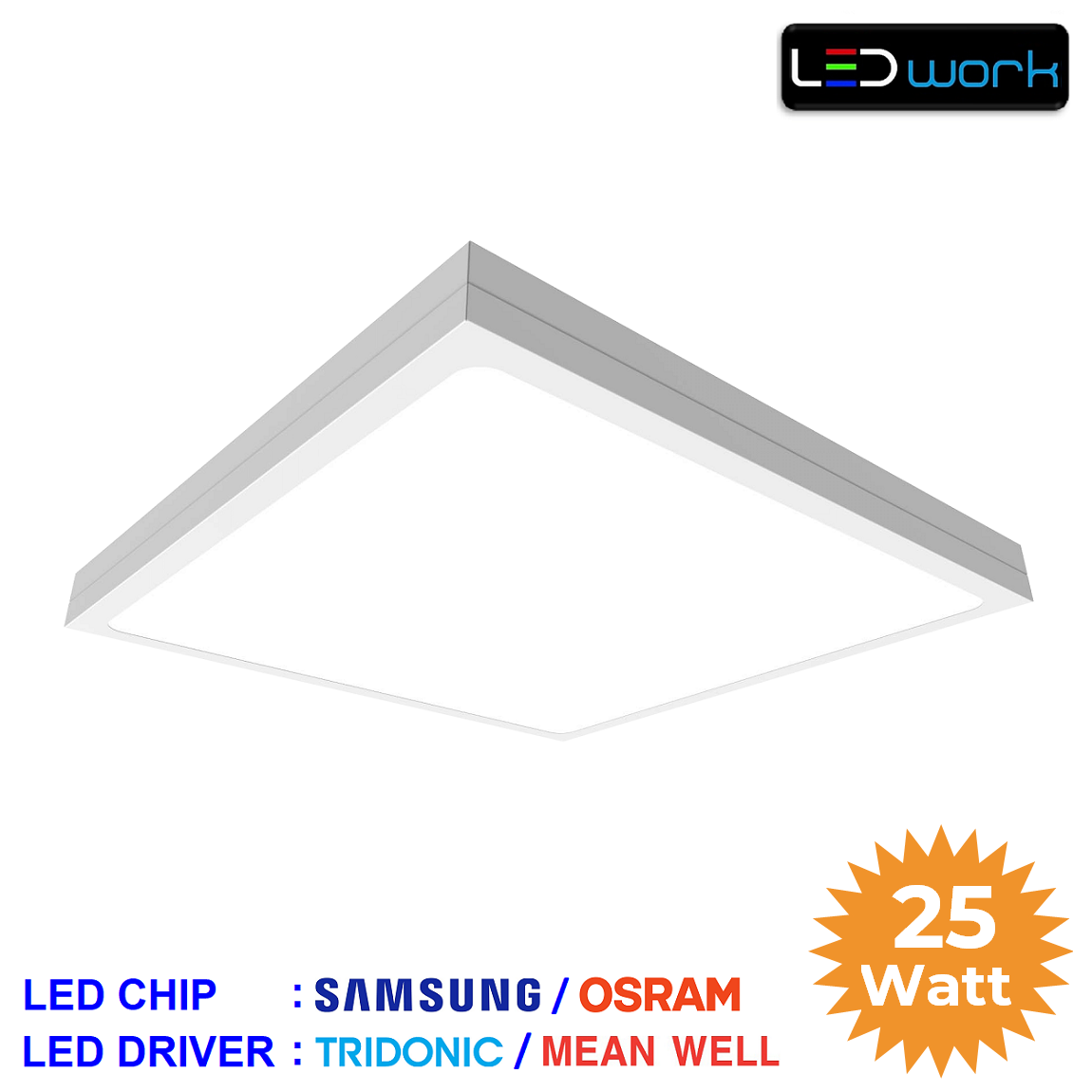 LW-PSUM-60x60-03 - 60x60 Sıva Üstü LED Panel Armatür