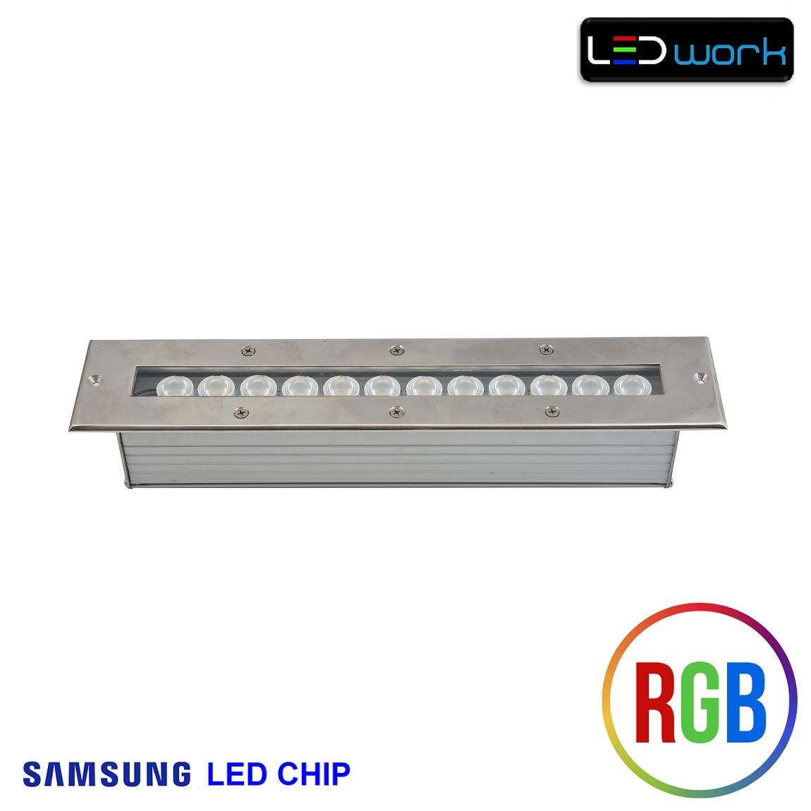 35 cm 12 Watt SAMSUNG LED Chip Sıva Altı RGB Wallwasher