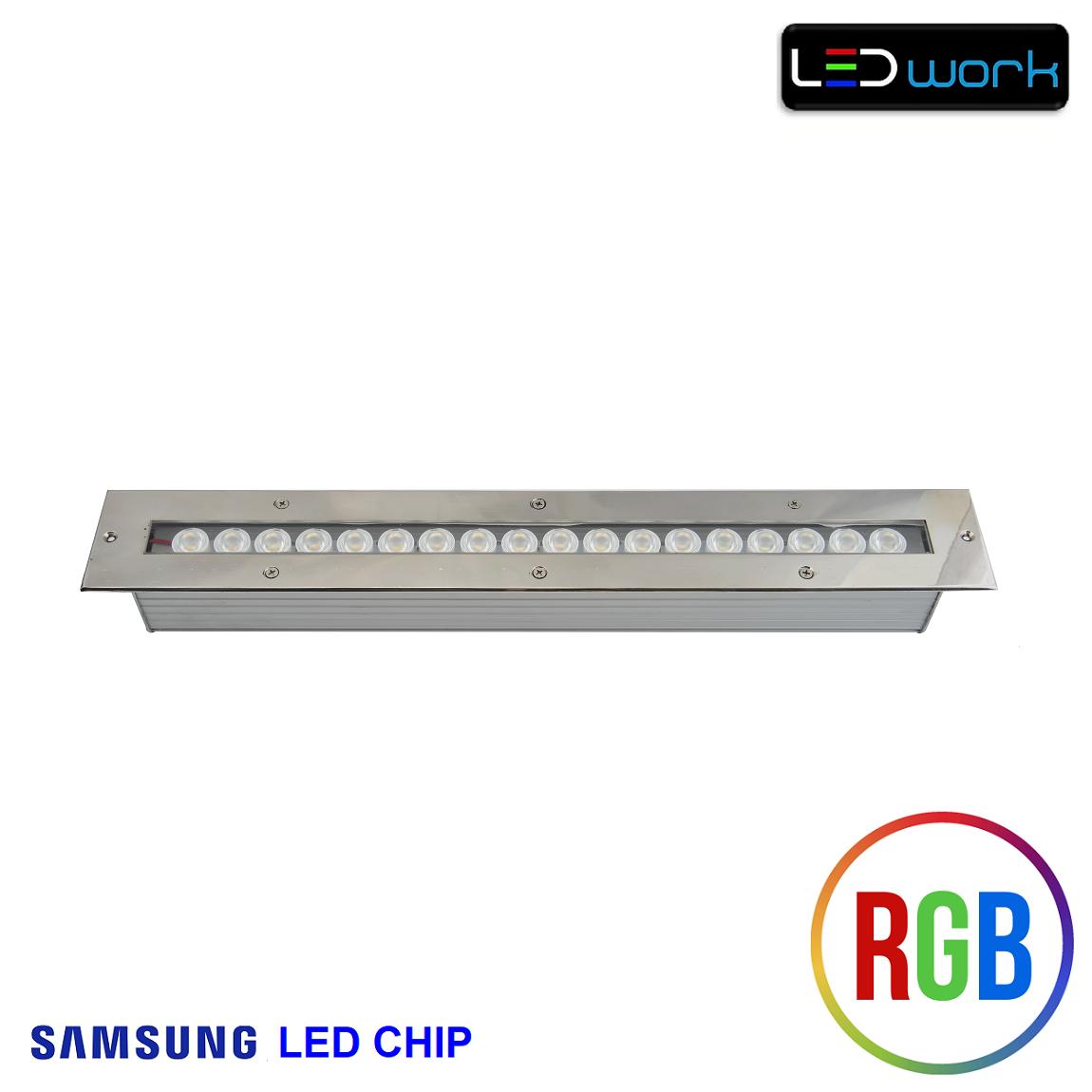 50 cm 18 Watt SAMSUNG LED Chip Sıva Altı RGB Wallwasher