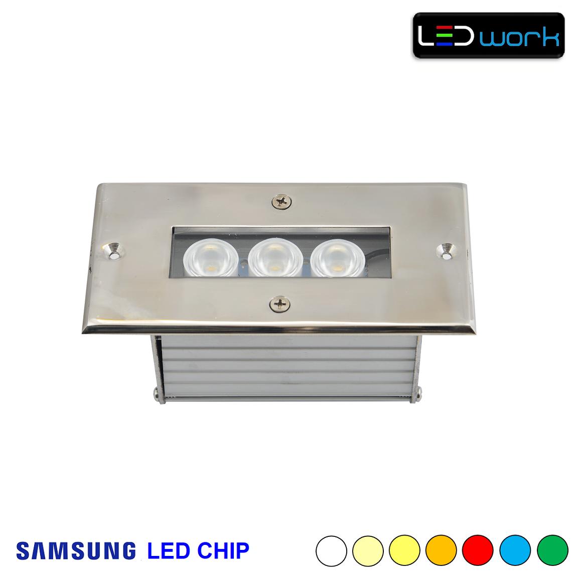 12 cm 3 Watt SAMSUNG LED Chip Sıva Altı RGB Wallwasher