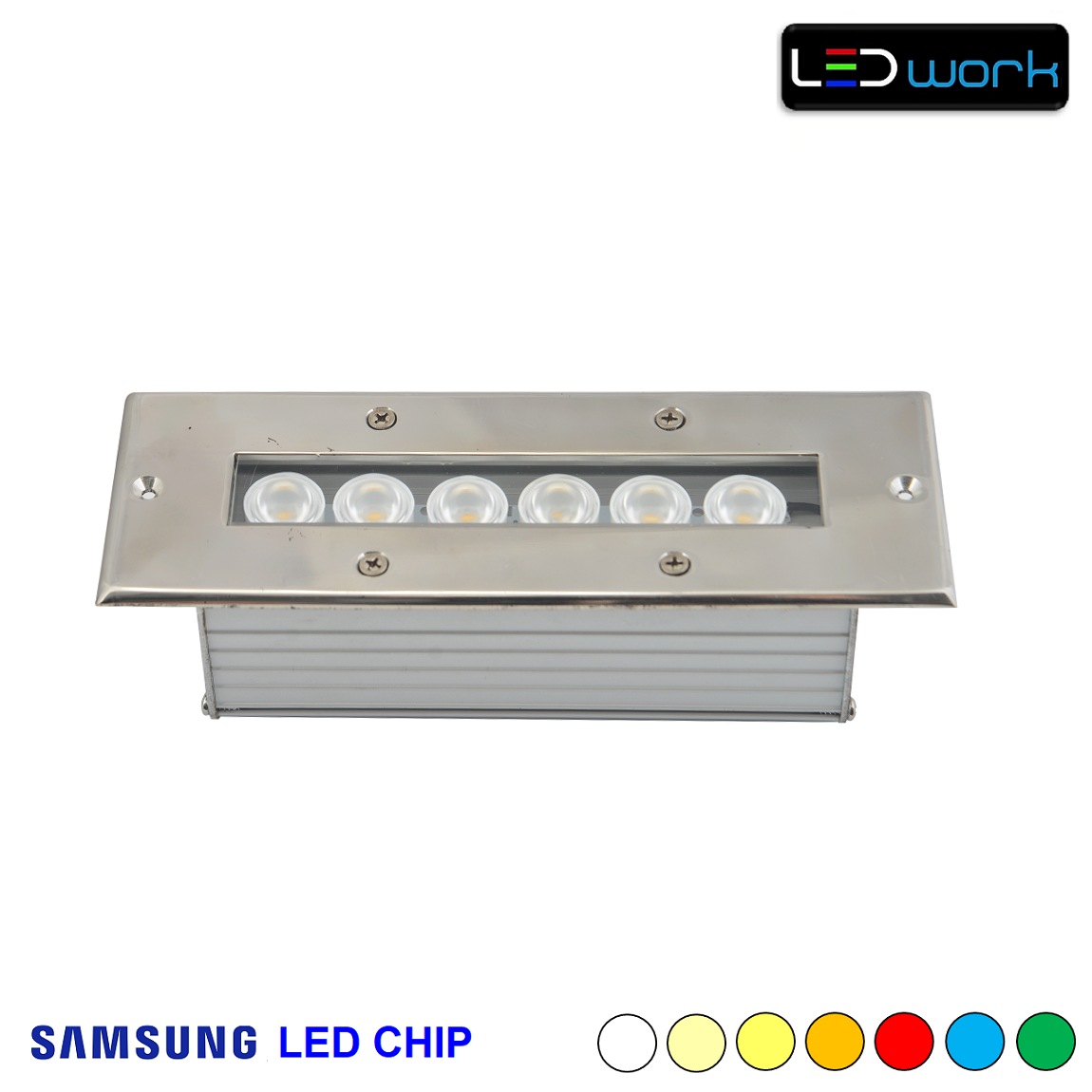 20 cm 6 Watt SAMSUNG LED Chip Sıva Altı RGB Wallwasher