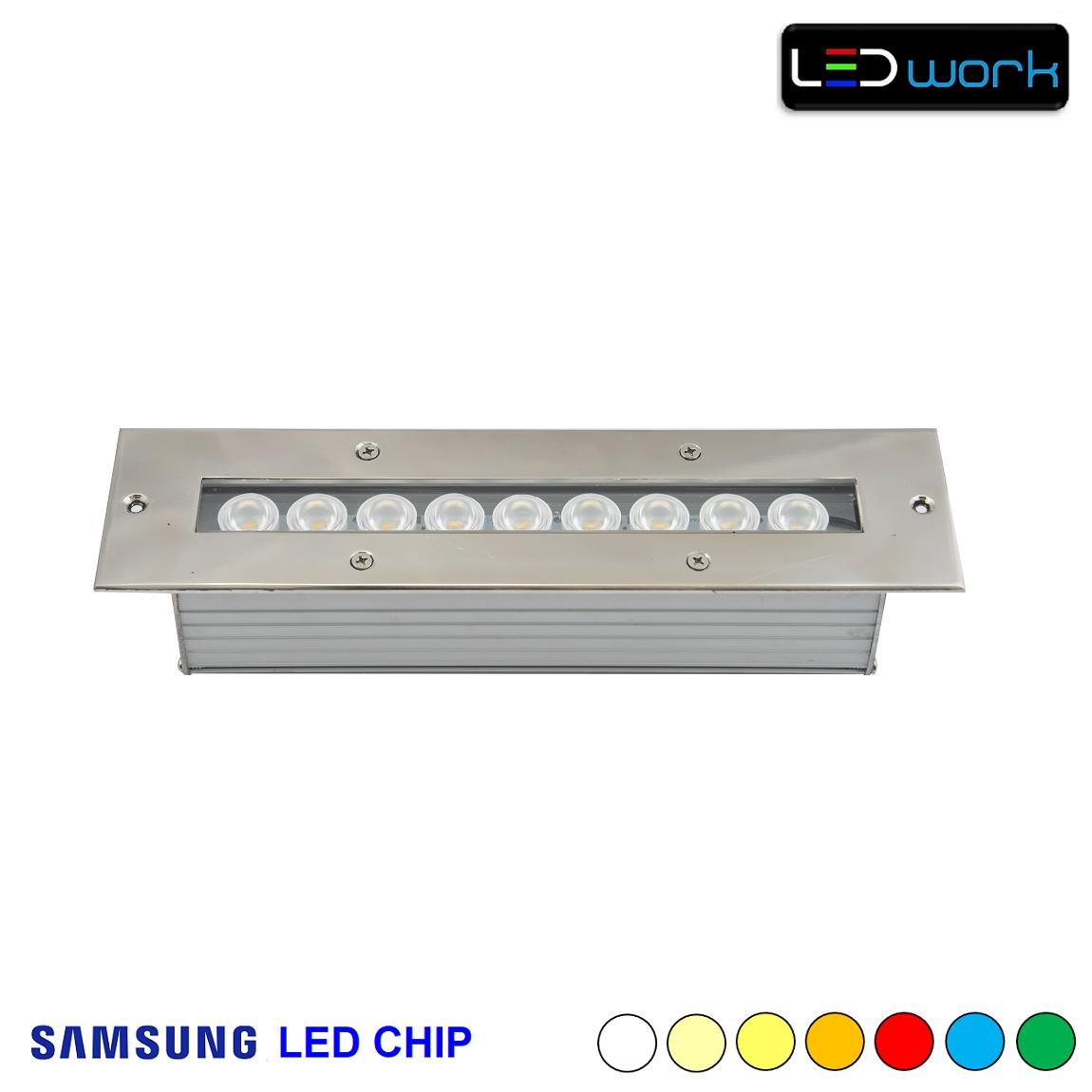 30 cm 9 Watt SAMSUNG LED Chip Sıva Altı RGB Wallwasher