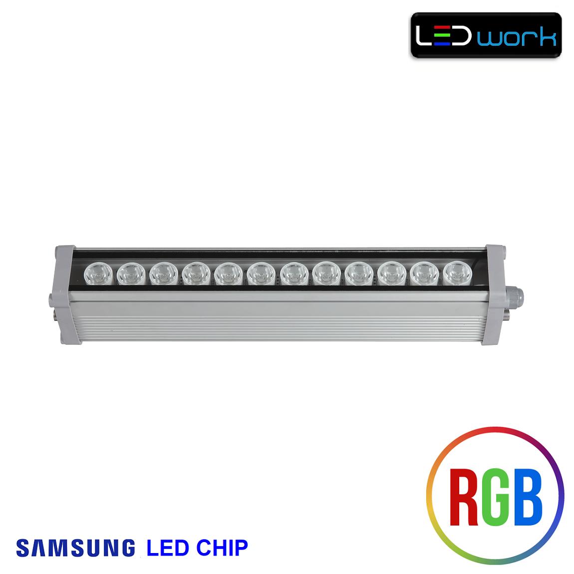 35 cm 12 Watt SAMSUNG LED Chip Sıva Üstü RGB Wallwasher