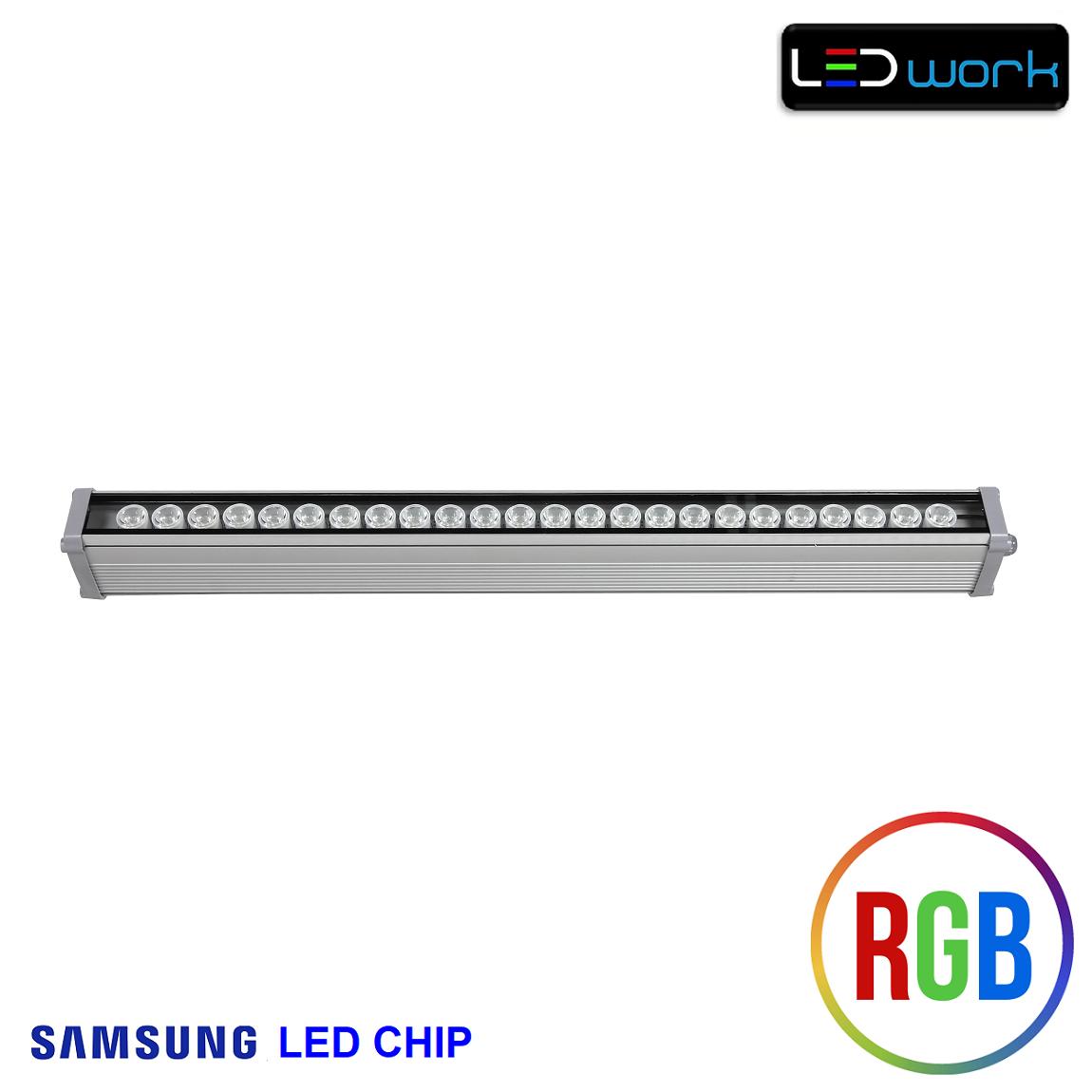 67 cm 24 Watt SAMSUNG LED Chip Sıva Üstü RGB Wallwasher