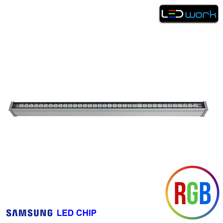 100 cm 36 Watt SAMSUNG LED Chip Sıva Altı RGB Wallwasher